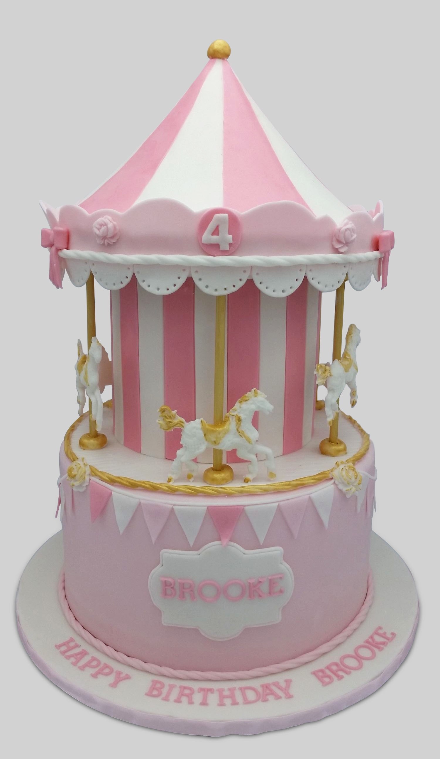Pink And Gold Carousel